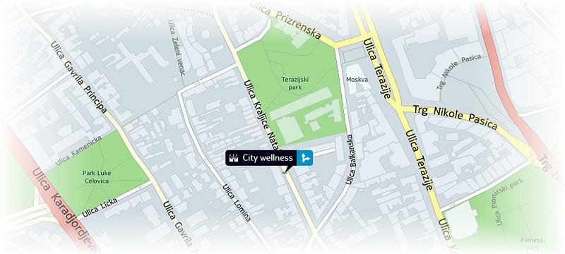 ulica narodnog fronta beograd mapa City Wellness klub ulica narodnog fronta beograd mapa